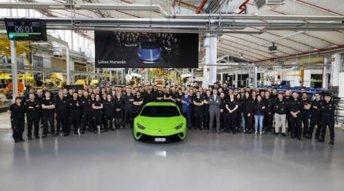 Pri Lamborghiniju naredili že 10.000 Huracánov