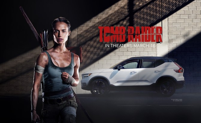 The New Volvo XC40 makes its Cinematic Debut in Warner Bros. Pictures and MGM's Upcoming Motion Picture Event Tomb Raider