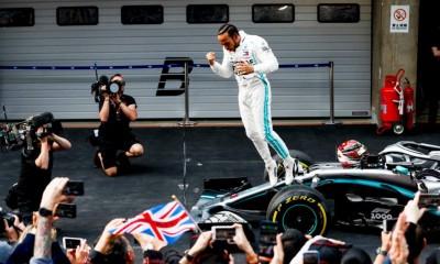 1000. dirka Formule 1 Hamiltonu