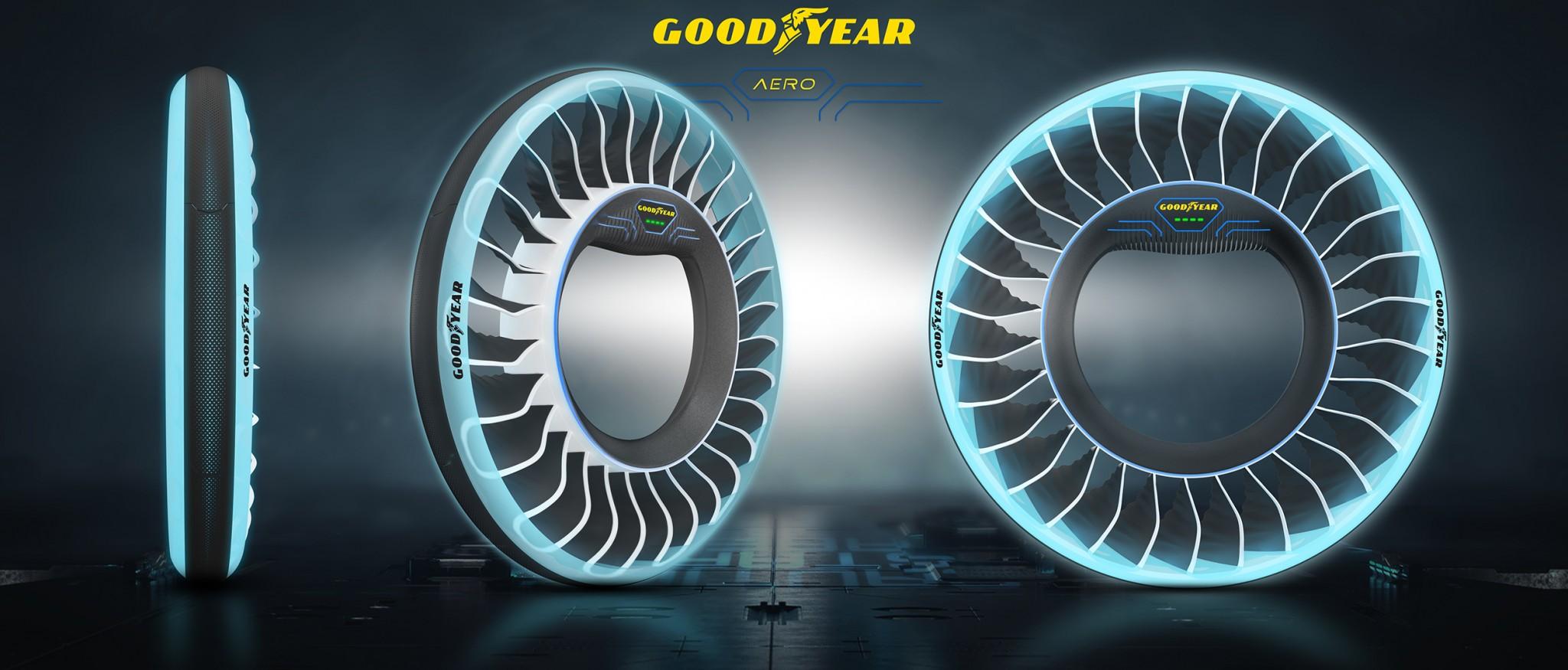 Goodyear s svojo konceptno pnevmatiko AERO za avtonomna leteča vozila že pogleduje v prihodnost