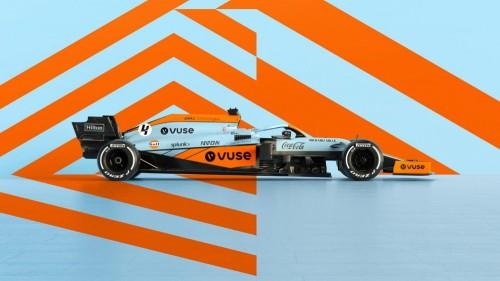 McLaren v Monaku v barvah Gulfa