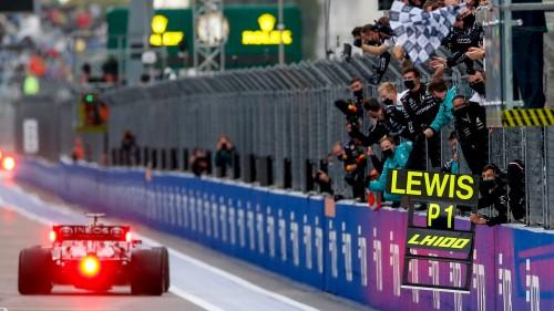 100. zmaga Lewisa Hamiltona